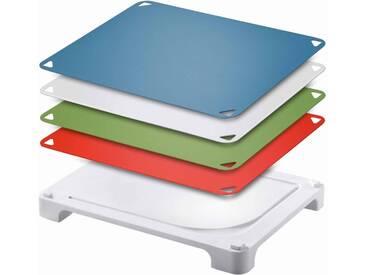 Schneidbrett »Vario Board«, weiß, L 41,8 x B 31 x H 5 cm, spülmaschinengeeignet, Leifheit