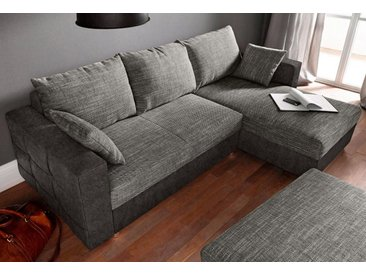 sit&more Eck-Sofa, schwarz, 231cm, Recamiere beidseitig montierbar, FSC®-zertifiziert