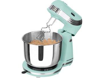 Küchenmaschine Retro mint mit Edelstahlschüssel, grün, GOURMETmaxx