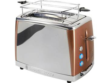 RUSSELL HOBBS Toaster Luna Copper Accents 24290-56, braun