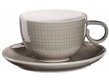 ASA Kaffeetasse mit Untere »VOYAGE« grau, spülmaschinengeeignet, ASA SELECTION