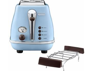 Toaster Incona Vintage , blau, »CTOV 2103.BG«, DeLonghi
