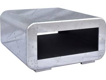 Couchtisch in moderner Flugzeugoptik, silber, 80/80cm, »AIRMAN«, FSC®-zertifiziert, SIT