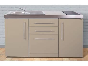 Miniküche aus Metall in der Farbe Sand »MPGS 160«, beige, Energieeffizienzklasse: A, Stengel