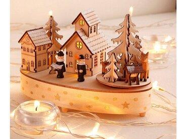 Home affaire Spiel-Uhr , beige, »Weihnachtsdorf«