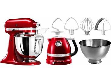 Küchenmaschine Artisan 5KSM175PSECA mit Gratis Wasserkocher, rot, KitchenAid