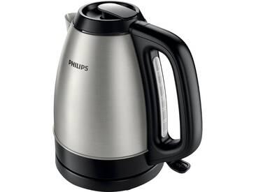 Philips Wasserkocher HD9305/20 1,5 Liter, 2200 W, Edelstahl/schwarz, 1,5 l, 2200 W, silber, robust, ,
