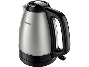 Philips Wasserkocher, HD9305/20 1,5 Liter, 2200 W, Edelstahl/schwarz, 1,5 Liter, 2200 Watt silber