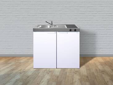 Metall-Miniküche Kitchenline MK 100 weiß, Energieeffizienzklasse: A, Stengel