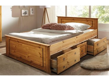 Home affaire Bett », wahlweise in 140/200 cm oder 180/200 cm. Achtung! Die Bettschubladen müssen extra bestellt werden.«, beige, 140/200 cm, FSC-Zertifikat, , , FSC®-zertifiziert
