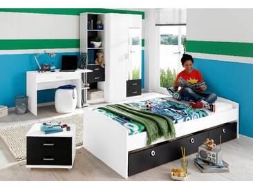 PACK´S Jugendzimmer »Point« grau, Kleiderschrank 2-türig, rauch