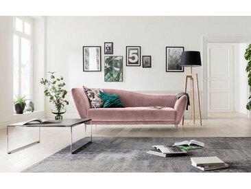 Chaiselongue , rosa, hohe Lehne links, 222cm, »Vittoria«, GALLERY M