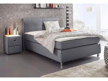 Boxspring-Bett, grau, 140x200 cm, Feinstruktur, Härtegrad 2, Jockenhöfer Gruppe