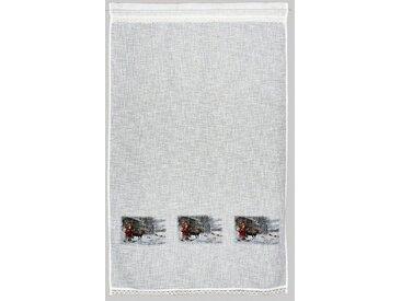 Vorhang , beige, H/B: 150/90cm, »Weihnachtsmann«, HOSSNER - ART OF HOME DECO
