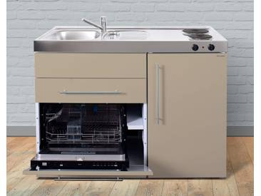 Miniküche aus Metall in der Farbe Sand »MPGS 120«, beige, Energieeffizienzklasse: A, Stengel