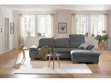 Home affaire Ecksofa mit Recamiere »Maven«, grau, Recamiere rechts, FSC®-zertifiziert