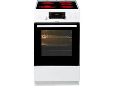 GORENJE Elektro-Standherd mit Glaskeramik-Kochfeld EC 5352 WPA, weiß, Energieeffizienzklasse: A