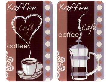 WENKO Herdabdeckplatte »Kaffeeduft«, bunt