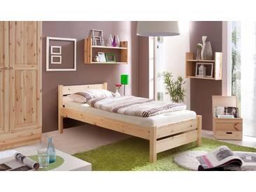 Bett in diversen Breiten »Bora«, beige, Liegefläche 100x200cm, FSC®-zertifiziert, Ticaa