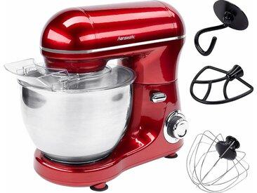 Küchenmaschine 649893 mit praktischem Zubehör, rot, Hanseatic