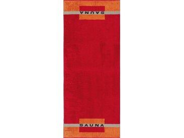 Sauna-Tuch , orange, 1x 80x200cm, »Sauna«, Cawö