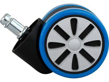Hartbodenrolle »Alu«, blau, Amstyle