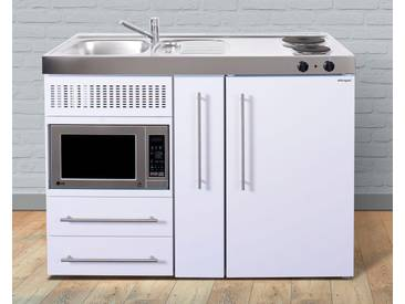 Miniküche aus Metall in der Farbe Weiß, weiß, »MPM 120«, Energieeffizienzklasse: A, Stengel