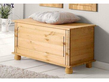 Home affaire Sitztruhe »Finca«, beige, 85cm, Landhaus-Stil, ,