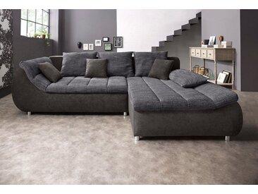 Eck-Sofa, grau, 278cm, Recamiere rechts, BENFORMATO CITY COLLECTION