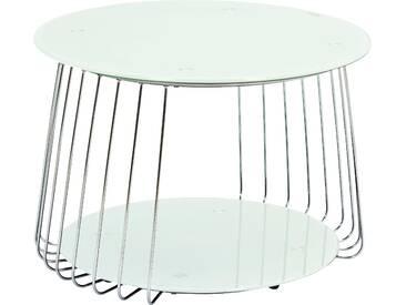 INOSIGN Couchtisch mit modernem Metallgestell »Riva«, weiß, pflegeleichte Oberfläche