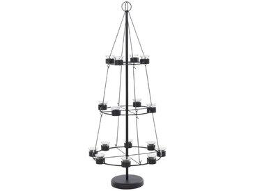 Home affaire Teelicht-Halter , schwarz, H: 120 cm, »Christbaum«