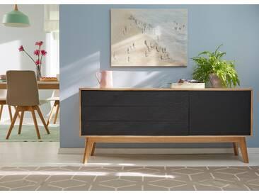 GMK Home & Living Sideboard schwarz, », im trendigen, skandinavischen Design, Breite 160 cm«, pflegeleichte Oberfläche, Push to open-Funktion, FSC®-zertifiziert, Guido Maria Kretschmer Home&Living