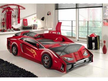 Rennwagenbett, rot, 90x200cm, FSC®-zertifiziert, Vipack