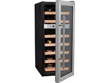 Getränkekühlschrank WineDuett 21, 80,5 cm hoch, 34,5 cm breit, Energieeffizienz: B, silber, Energieeffizienzklasse: B, Caso