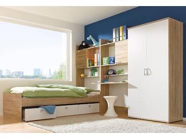 PACK´S Jugendzimmer-Set »Emilio« beige, Mit 2-trg. Kleiderschrank, rauch