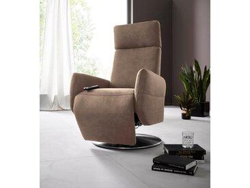 Relaxsessel , braun, manuell verstellbar, FSC-Zertifikat, »Kobra«, , , Places of Style