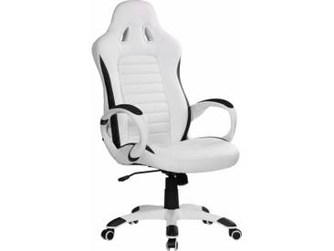 Chefsessel »Racer«, weiß, Amstyle