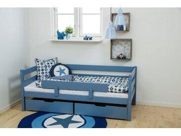 Hoppekids Einzelbett , blau, 70x160cm Höhe Bettseite: 65cm, FSC-Zertifikat, »IDA-MARIE«, , , Härtegrad 3, FSC®-zertifiziert