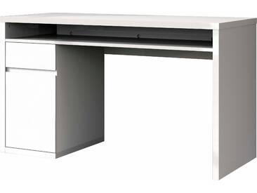 HMW Schreibtisch, weiß, mit Schubkästen, FSC®-zertifiziert