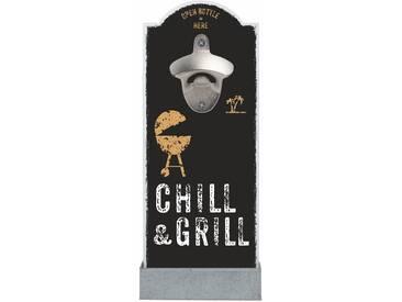 Wand-Flaschenöffner , schwarz, »Chill & Grill«, Contento