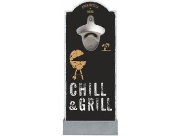 Wand-Flaschenöffner »Chill & Grill«, schwarz, Contento
