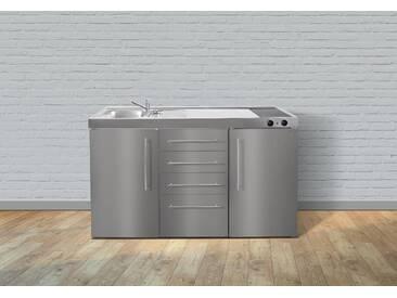 Metall-Miniküche Premiumline MPS4 150 silber, Energieeffizienzklasse: A, Stengel