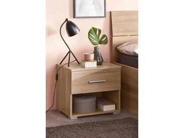 PACK´S Möbelwerke Stauraumbett , beige, »Flexx«, rauch