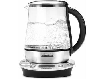 Tee- und Wasserkocher Design Tea & More Advanced, 1,5 Liter, 1400 Watt, Edelstahl silber, Gastroback