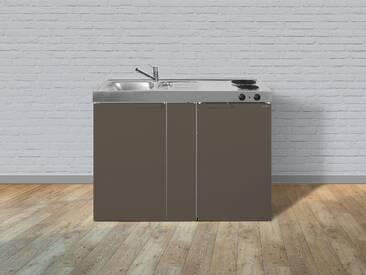 Metall-Miniküche Kitchenline MK 120 braun, Energieeffizienzklasse: A, Stengel