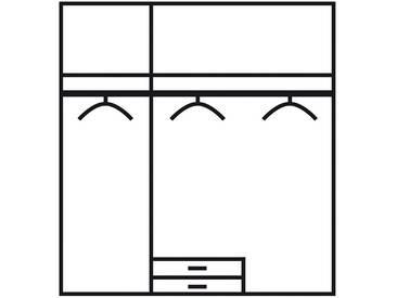 PACK´S Jugendzimmer beige, Kleiderschrank 3-türig, »Point«, rauch