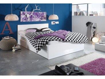 Bett, weiß, 140x200cm, verstellbar, , ,