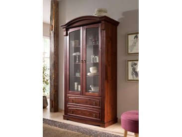 Home affaire Glasvitrine Höhe 187 cm »Anna«, braun, FSC-Zertifikat, , , FSC®-zertifiziert
