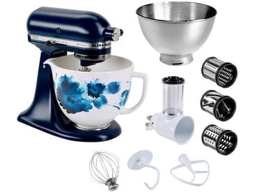 Küchenmaschine Artisan 5KSM156CWCEIB mit Gratis Gemüseschneider+3 Trommeln sowie 3L Edelstahlschüssel, blau, KitchenAid
