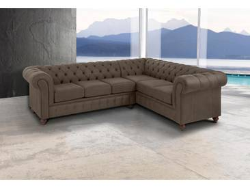 Premium collection by Home affaire Ecksofa , grün, Langer Schenkel links, »Chesterfield«, FSC®-zertifiziert